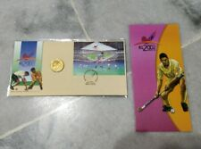 MALAYSIA 2002 World Cup Hockey Hoki MS Stamp FDC & Nordic Gold Medallion Coin