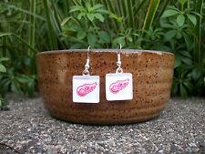 Detroit Red Wings Earrings NHL Hockey Jewelry Red Wings Accessories Red Wings