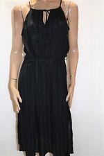 COTTON ON Brand Black Dobby Amber Midi Sleeveleess Dress Size L BNWT #TT63