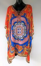 Plus Size Loose Fitting Sheer Embellished Kaftan/ Cover Up Size 14-16-18-20-22
