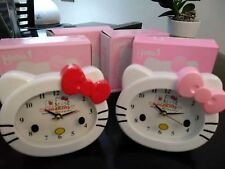 Job lot of 4 Hello Kitty Alarm Clock new in box 【RED】X3 【pink】x 1