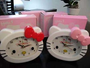 Job lot of 4 Hello Kitty Alarm Clock new in box 【RED】X3 【pink】x 1