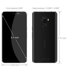 Ulefone S8 4 G 5.3 in Pro (ca. 13.46 cm) Android 7.0 13MP + 5MP Scanner di Impronte Digitali Nero 16 GB