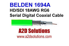 Belden 1694A - 1000' - HD/SDI 18AWG RG6 HD Digital Coaxial Cable - GREEN