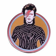 NEW, David Bowie, Ziggy Stardust, Enamel/ Copper Pin