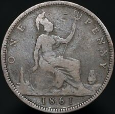 1861 | Victoria One Penny | Bronze | Coins | KM Coins
