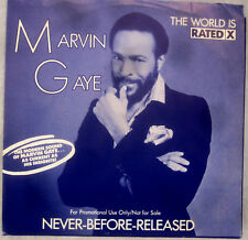 "Marvin Gaye - THE WORLD IS RATED ""X"" -  Promo Vinyl 7"" Single [1986] - NM"