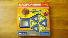BRAND NEW Magformers Classic Set 14 Piece Magnetic Construction Set Toy Game