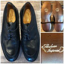 Vintage Florsheim Imperial 2396 US 9 D Mens Shoes Blucher Black Split Toe 5 Nail