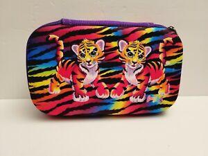 Lisa Frank Forrest Tiger Molded Pencil Pouch Makeup Travel Case Box Holder