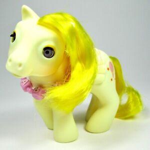 My Little Pony- BABY LOFTY w/ Necklace- Vintage Hasbro 1986 G1 Pegasus- Yellow