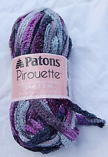 Patons Pirouette Yarn ORCHID SHIMMER - NEW - Ruffle Scarves - Smoke Free Home