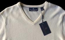 Men's HART SCHAFFNER MARX Ivory Ecru Cream CASHMERE Sweater L Large NWT NEW