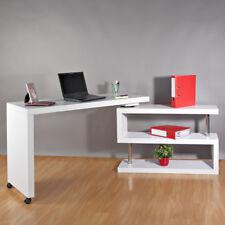 Computertisch Winkel Schreibtisch Sekretär Regal weiß Büro Tisch Eckschreibtisch