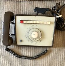 Vintage Multi 9 Line Rotary Dial Telephone Desk Office Phone Brown