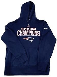 Nike New England Patriots Super Bowl Champions Pullover Hoodie Size Large
