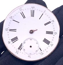 Unknown Hand Manual Vintage 42,6 mm Pocket Watch Doesn'T Works for Parts Pocket