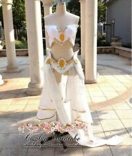 LOL League of Legends Janna Cosplay Costume Princess Dress White Lolita Armour