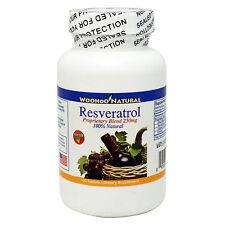 WooHoo Natural Resveratrol w/ Red Wine Extract 250 mg 100 Tabs,100% Natural
