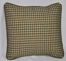 "Pillow made w/ Ralph Lauren Edgefield Green Herringbone Fabric 12"" trim cording"