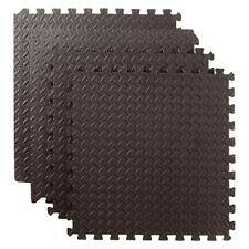 24 SQ FT Interlocking Foam Mats Tiles Gym Play Garage Workshop Floor Mat Black