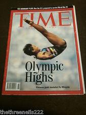 TIME MAGAZINE - OLYMPICS FU MINGXIA - AUG 10 1992
