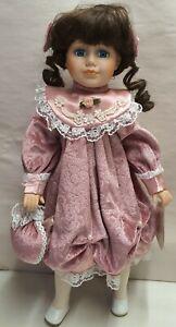 Copperart Heirloom Doll - Clarissa - Porcelain Head Hands & Feet Standing 40cm