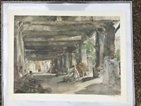 Sir William Russell FLINT Gossip After market, Collotype Print pencil signed