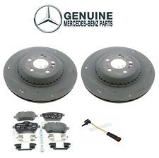 For Mercedes W222 S550 Rear Disc Brake Rotors and Pads & Sensor Genuine KIT