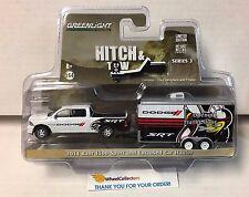 Greenlight  Hitch & Tow * 2014 Ram 1500 Sport WHITE & Enclosed Car Hauler