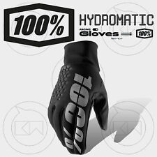 GUANTI 100% HYDROMATIC BRISKER MX BLACK ADULTO MOTOCROSS ENDURO OFF-ROAD ATV MTB