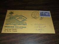 APRIL 1958 READING COMPANY 125TH ANNIVERSARY COMPANY ENVELOPE SHAMOKIN RPO