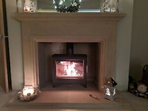 Camber Bath Stone Fireplace Fire Surround. Price includes External Hearth