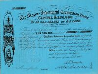1866 The marine investment Cp. Ltd share Great Britain Großbritannien Leuchtturm