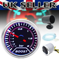 """52mm 2"""" Free Single Gauge Pod Holder Meter With Boost Gauge-1~2Bar LED Light UK"""