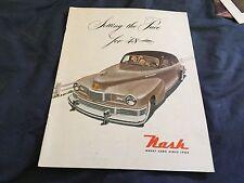 1948 Nash Ambassador and 600 Color Brochure Catalog Prospekt