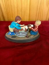 "Norman Rockwell ceramic figurine ""Splish Splash�"