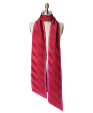 Echo Red Pink Long and Skinny Pleated Scarf - NWT