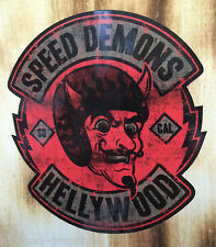 "Biker Sticker Bobber Skull Chopper ""Speed Demons""  Gentleman Oldschool Aufkleber"