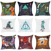 Harry Potter Cartoon Polyester Cushion Cover Sofa Throw Pillow Case Home Decor