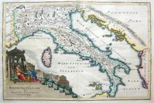 ITALY REGIONES ITALIAE BY CELLARIUS  c1703 GENUINE ANTIQUE COPPER ENGRAVED MAP