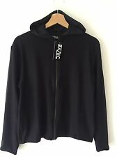 Baziic HOT!MESS Hot Mess Mesh Zip-Up Jacket Hoody - Black - One Size RRP £60 New