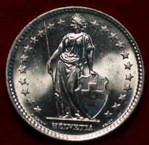 Uncirculated 1964 Switzerland 2 Francs Silver Foreign Coin