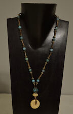 Necklace Chinese Turquoise Tiger Coral Pendant Southwest Style Necklace