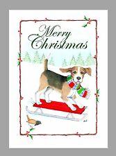 Beagle Dog Christmas Cards, Box of 16 Cards & 16 Envelopes