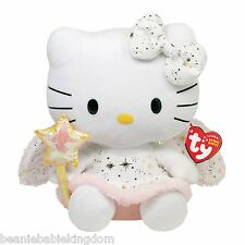 "TY BEANIE * HELLO KITTY GOLD ANGEL * UK EXCLUSIVE 6"" Tall - NEW"