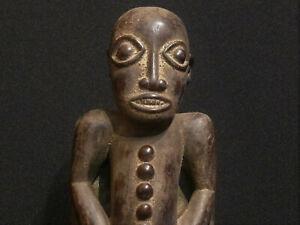 Afrikanische Holzfigur, seltene Schutzfigur der LUBA, Kongo