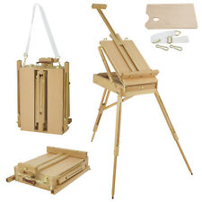 French Easel Hard Wood Sketch Box Portable Tripod Desktop Wooden Artist Painting