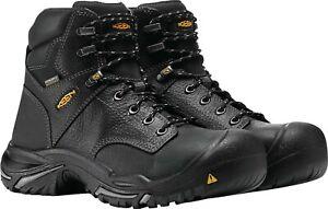 "KEEN UTILITY MT VERNON 6"" Steel Toe Dry Black Work Boots Mens US 10.5 EU 44 new"