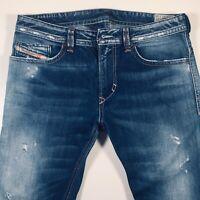 Mens DIESEL Thavar Jeans W32 L34 Blue Slim - Skinny Wash 0810L